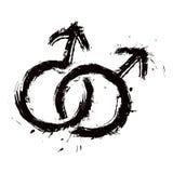 Ο ομοφυλόφιλος επανδρώνει την αγάπη Στοκ Εικόνες