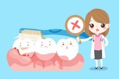 Οδοντίατρος γυναικών με το δόντι Στοκ Φωτογραφίες