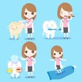 Οδοντίατρος με το ευαίσθητο δόντι Στοκ φωτογραφία με δικαίωμα ελεύθερης χρήσης