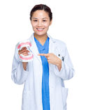 Οδοντίατρος με το σαγόνι στοκ φωτογραφίες