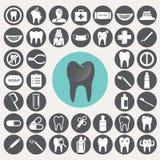 Οδοντικά εικονίδια καθορισμένα Στοκ Εικόνα