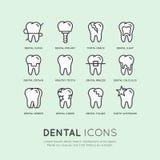 Οδοντικές προσοχή και ασθένεια ελεύθερη απεικόνιση δικαιώματος