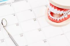 Οδοντική έννοια διορισμού στοκ φωτογραφία
