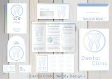 Οδοντική εταιρική ταυτότητα κλινικών Στοκ εικόνα με δικαίωμα ελεύθερης χρήσης