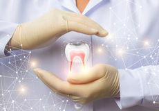 Οδοντική υγεία υποστήριξης Στοκ φωτογραφίες με δικαίωμα ελεύθερης χρήσης