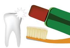 Οδοντικός καθαρισμός Στοκ φωτογραφία με δικαίωμα ελεύθερης χρήσης