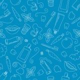 Οδοντικό άνευ ραφής σχέδιο προσοχής Στοκ Εικόνες