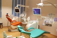 Οδοντικό γραφείο κλινικών με τον εξοπλισμό Στοκ Εικόνες