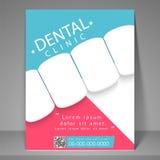 Οδοντικό ιπτάμενο, πρότυπο ή φυλλάδιο κλινικών Στοκ Εικόνες
