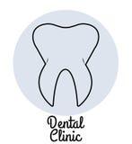 Οδοντικό λογότυπο κλινικών Στοκ Εικόνες