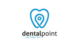 Οδοντικό λογότυπο σημείου Στοκ εικόνες με δικαίωμα ελεύθερης χρήσης