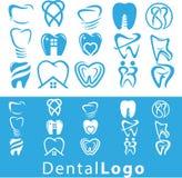 Οδοντικό σύνολο λογότυπων Στοκ εικόνες με δικαίωμα ελεύθερης χρήσης