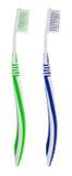 οδοντόβουρτσες δύο Στοκ Εικόνες