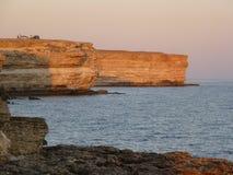 Ολονυκτίς σε έναν βράχο κοντά στη θάλασσα Ð  Ð ¾ Ñ ‡ л ÐΜÐ ³ Ð ½ а Ñ  кал е Ð ² Ð ¾ зл е Ð ¼ Ð ¾ Ñ€Ñ  Στοκ εικόνα με δικαίωμα ελεύθερης χρήσης