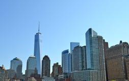Ο ορίζοντας πόλεων της Νέας Υόρκης, NYC Στοκ εικόνα με δικαίωμα ελεύθερης χρήσης