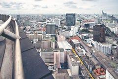 Ο ορίζοντας Ταϊλάνδη Μπανγκόκ εικονικής παράστασης πόλης είναι μητρόπολη στοκ φωτογραφίες