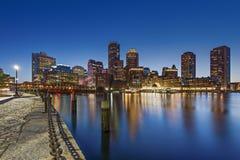 Ο ορίζοντας της Βοστώνης, μΑ, ΗΠΑ Στοκ Εικόνες