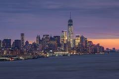 Ο ορίζοντας της πόλης της Νέας Υόρκης Στοκ φωτογραφίες με δικαίωμα ελεύθερης χρήσης