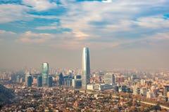 Ο ορίζοντας του Σαντιάγο στη Χιλή στοκ φωτογραφίες