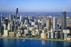 Ο ορίζοντας του Σικάγου, Σικάγο, Ιλλινόις Στοκ Εικόνες