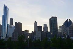 Ο ορίζοντας του Σικάγου Στοκ φωτογραφία με δικαίωμα ελεύθερης χρήσης