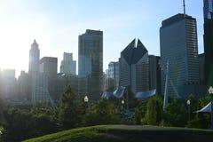 Ο ορίζοντας του Σικάγου Στοκ Φωτογραφία