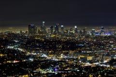 Ο ορίζοντας του στο κέντρο της πόλης Λος Άντζελες Στοκ Φωτογραφίες