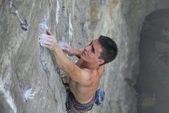 ο ορειβάτης προσκολλάτ&a Στοκ Εικόνες