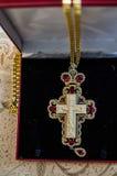 Ο ορθόδοξος σταυρός ιερέων του μαμμούθ ελεφαντόδοντου Στοκ φωτογραφίες με δικαίωμα ελεύθερης χρήσης