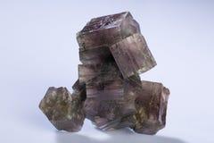 Ο ορυκτός aragonite που απομονώνεται στο άσπρο υπόβαθρο Στοκ Εικόνες