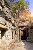 Ο 12ος αιώνας ναών Khan Preah σε Angkor Wat, Siem συγκεντρώνει, Καμπότζη Στοκ εικόνα με δικαίωμα ελεύθερης χρήσης