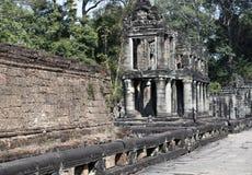 Ο 12ος αιώνας ναών Khan Preah σε Angkor Wat, Siem συγκεντρώνει, Καμπότζη Στοκ Φωτογραφία