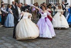 Ο 19ος χορός αιώνα Στοκ εικόνα με δικαίωμα ελεύθερης χρήσης