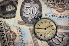 Ο ουγγρικός χρόνος είναι χρήματα Στοκ Εικόνες