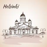 Ο λουθηρανικός καθεδρικός ναός του Ελσίνκι - Ελσίνκι, Φινλανδία ελεύθερη απεικόνιση δικαιώματος