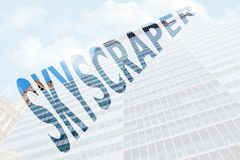 Ο ουρανοξύστης λέξης Στοκ Φωτογραφίες