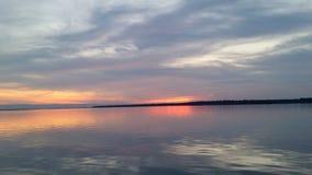 ο ουρανός είναι στην πυρκαγιά με το χρώμα Στοκ εικόνα με δικαίωμα ελεύθερης χρήσης