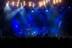 Ο ουρανός θα καψει στη συναυλία Στοκ φωτογραφία με δικαίωμα ελεύθερης χρήσης