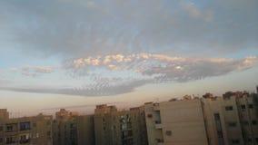 Ο ουρανός θα μπορούσε πρωί να λιάσει το goodmorning ηλιόλουστο raning κρύο Στοκ Φωτογραφία