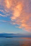 Ο ουρανός πέρα από τη θάλασσα της Kara Στοκ Εικόνες