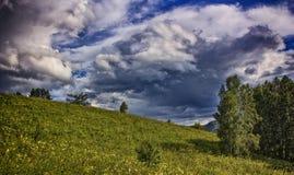 Ο ουρανός πριν από τη θύελλα Στοκ Φωτογραφίες