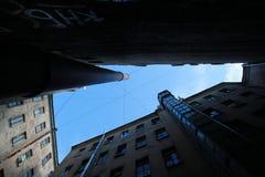 Ο ουρανός του ναυπηγείο-φρεατίου θόλος Isaac Πετρούπολη Ρωσία s Άγιος ST καθεδρικών ναών Στοκ φωτογραφία με δικαίωμα ελεύθερης χρήσης