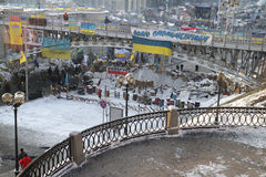 Οδοφράγματα στην οδό Instytutska στοκ εικόνες με δικαίωμα ελεύθερης χρήσης