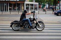 Ο οδηγός της μοτοσικλέτας Στοκ φωτογραφία με δικαίωμα ελεύθερης χρήσης