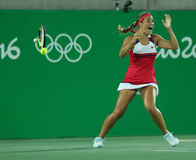 Ο ολυμπιακός πρωτοπόρος Μόνικα Puig γιορτάζει τη νίκη των γυναικών ξεχωρίζει τελικό του Ρίο 2016 Ολυμπιακοί Αγώνες Στοκ Φωτογραφία