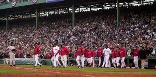 Ο πάγκος του Red Sox καθαρίζει, παιχνίδι 3 2003 ALCS Στοκ φωτογραφία με δικαίωμα ελεύθερης χρήσης