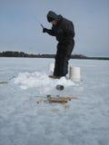 ο πάγος αλιείας ψαριών βρίσκεται ακριβώς παγιδευμένος transbaikalia χειμώνας της Ρωσίας Στοκ Φωτογραφίες