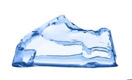ο πάγος κύβων απομόνωσε το λευκό Στοκ φωτογραφία με δικαίωμα ελεύθερης χρήσης