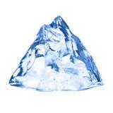 ο πάγος κύβων απομόνωσε το λευκό Στοκ Φωτογραφίες