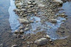 Ο πάγος στον ποταμό Στοκ Εικόνα